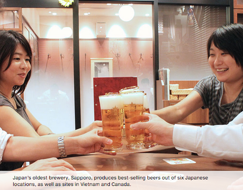 A fresh idea for Sapporo® Beer>> -