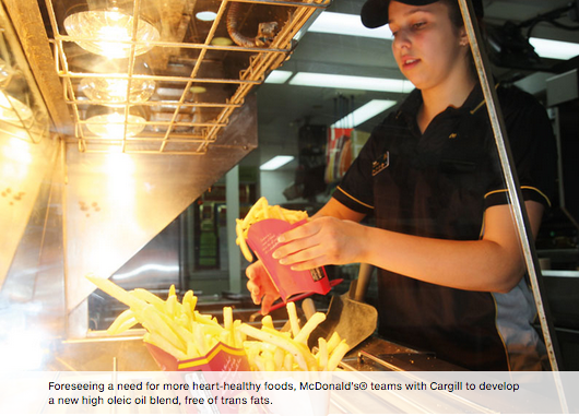 Removing trans fats from McDonald's® famous fries>> -
