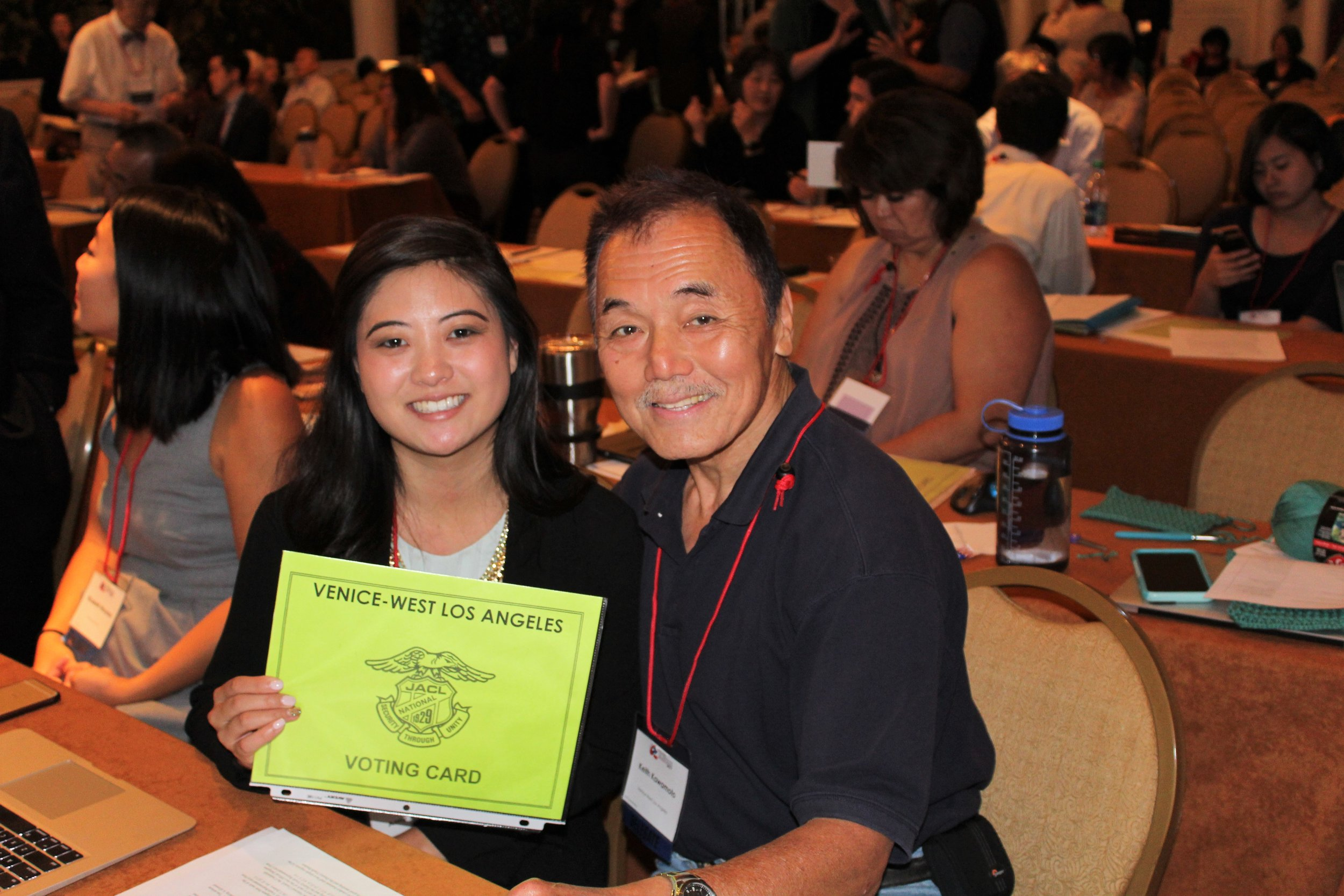 Delegates Amy Watanabe & Keith Kawamoto
