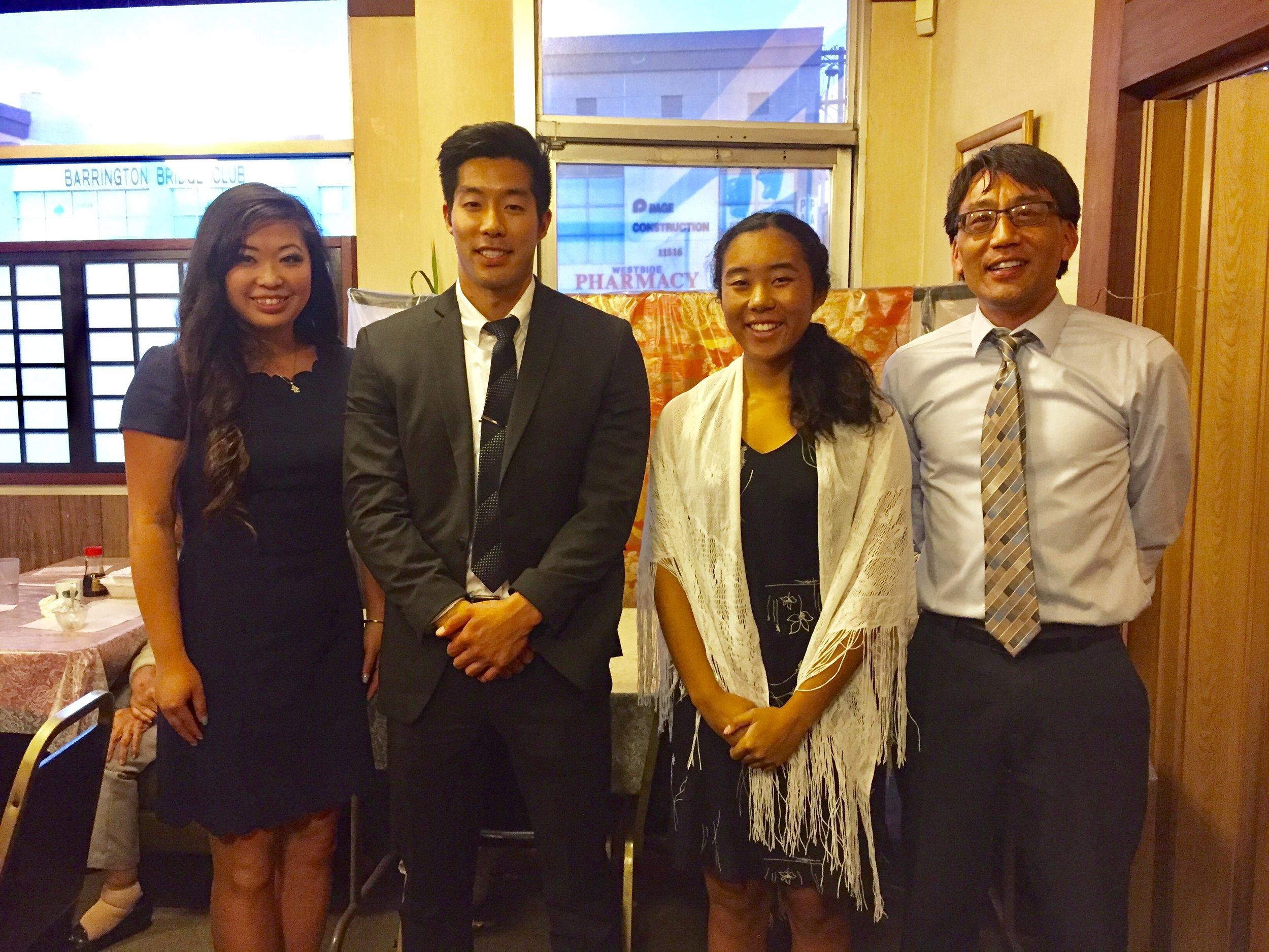 (Left to Right) Shannon Tsumaki, Masumi Asahi, Mariko Brooks, John Saito Jr.