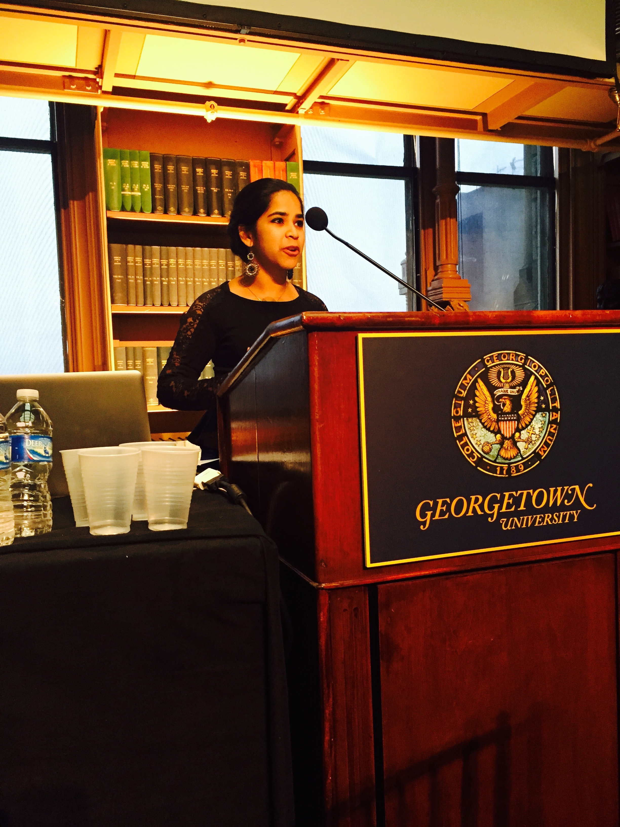 """""""Power through Power: Solar Panels and Suppression in the Jerusalem Periphery,"""" at Disorderly Conducts at the Mortara Center for International Studies, May 2016."""