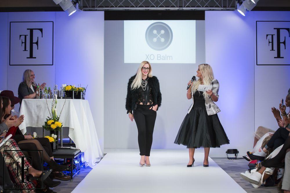 Nicky Hambleton-Jones as a judge at London Fashion Week