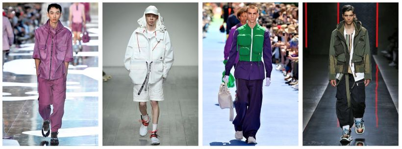 L-R: ERMENEGILDO ZEGNA , CHRISTOPHER RAEBURN, LOUIS VUITTON, DSQUARED2    Images: tag-walk.com