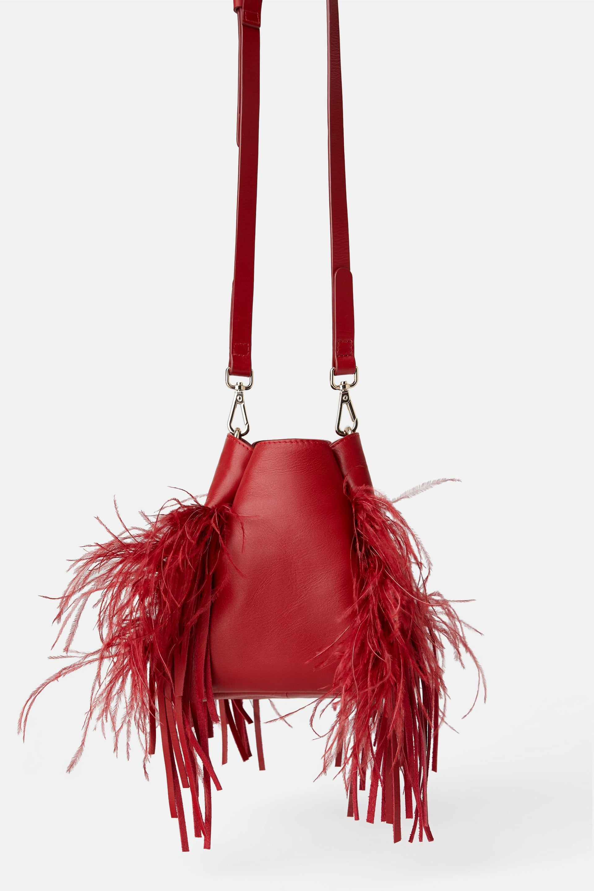 red feather bag