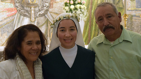 Sr. Maria Angélica with her parents on January 23, 2015