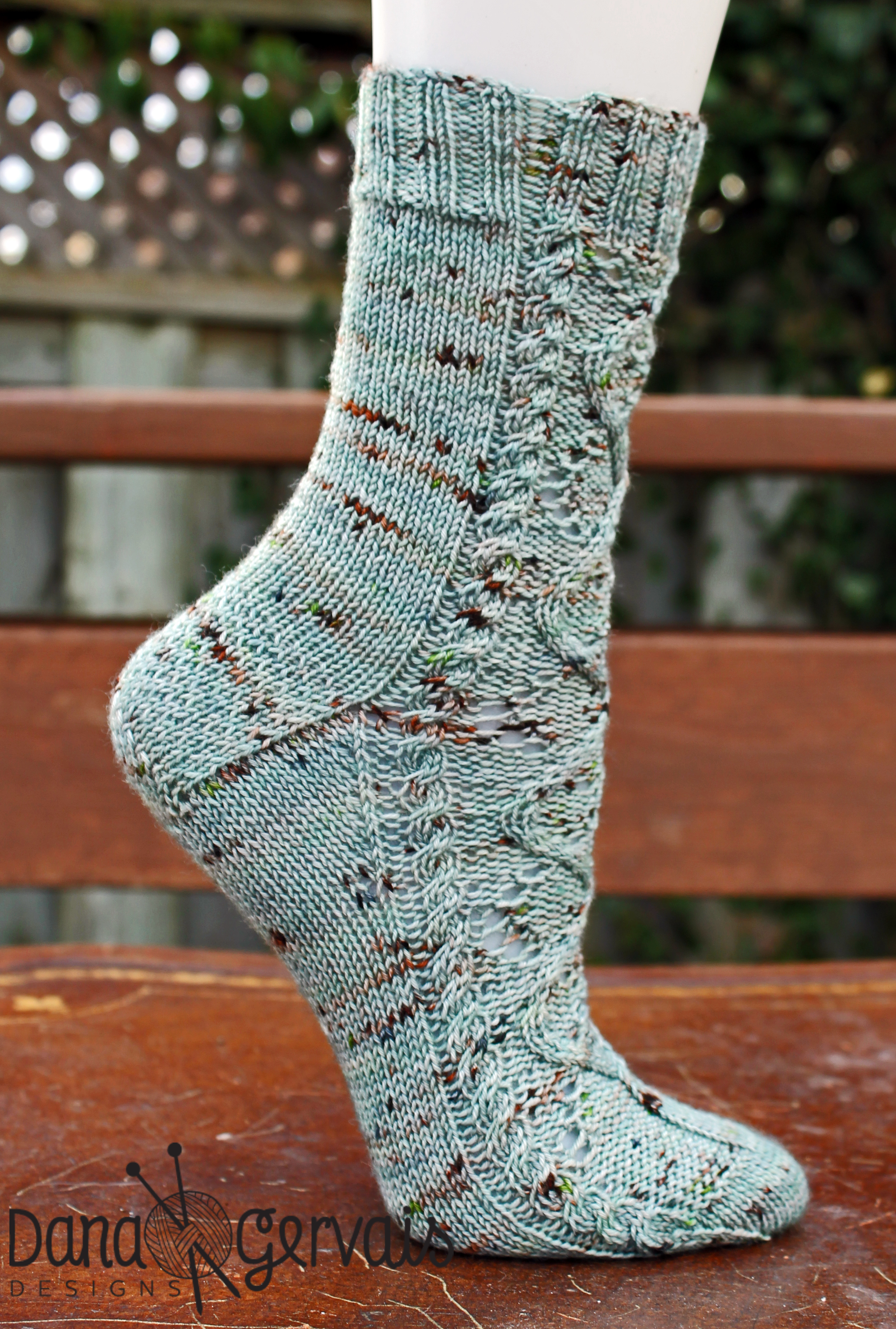 Sassenach is an example of a sock that uses heel flap construction