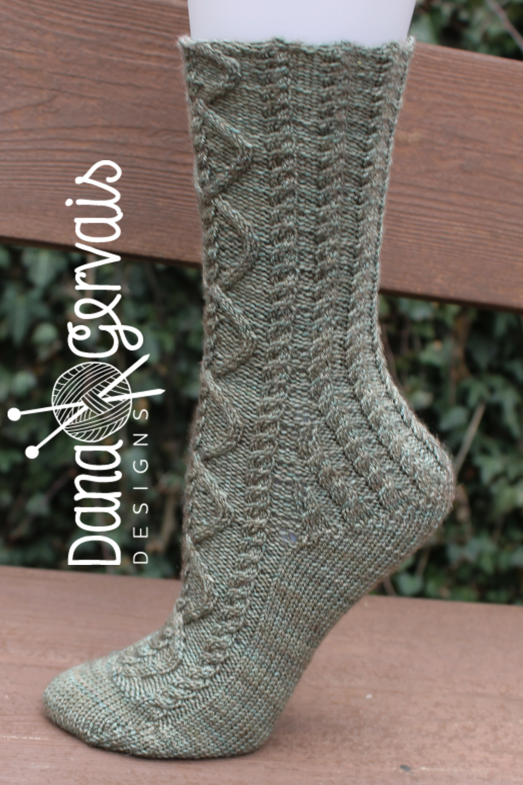 Lerwick is an example of a sock with a rounded toe