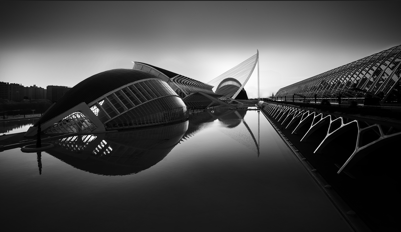 City of Arts and Science Valencia Black & White