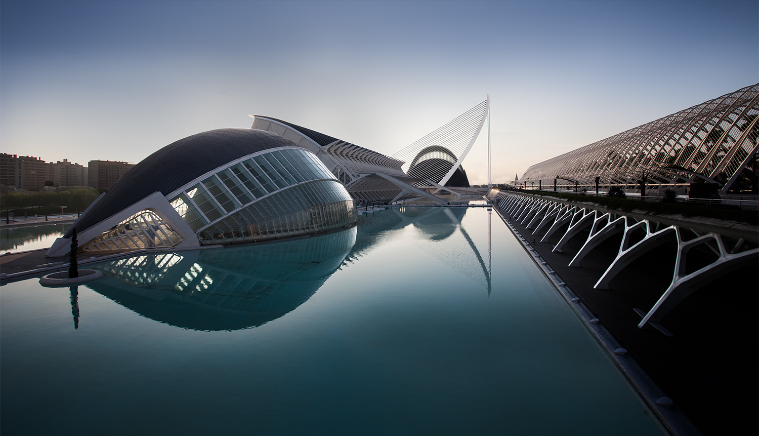 City of Arts and Science Valencia Blue