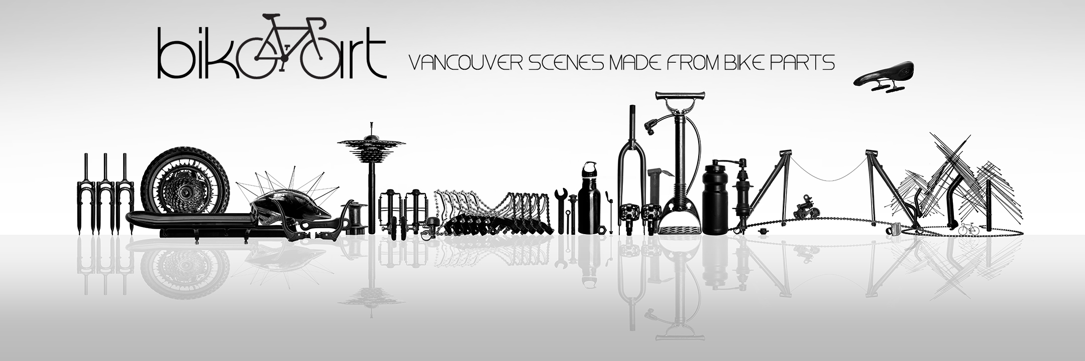 Bike Art - Vancouver Skyline
