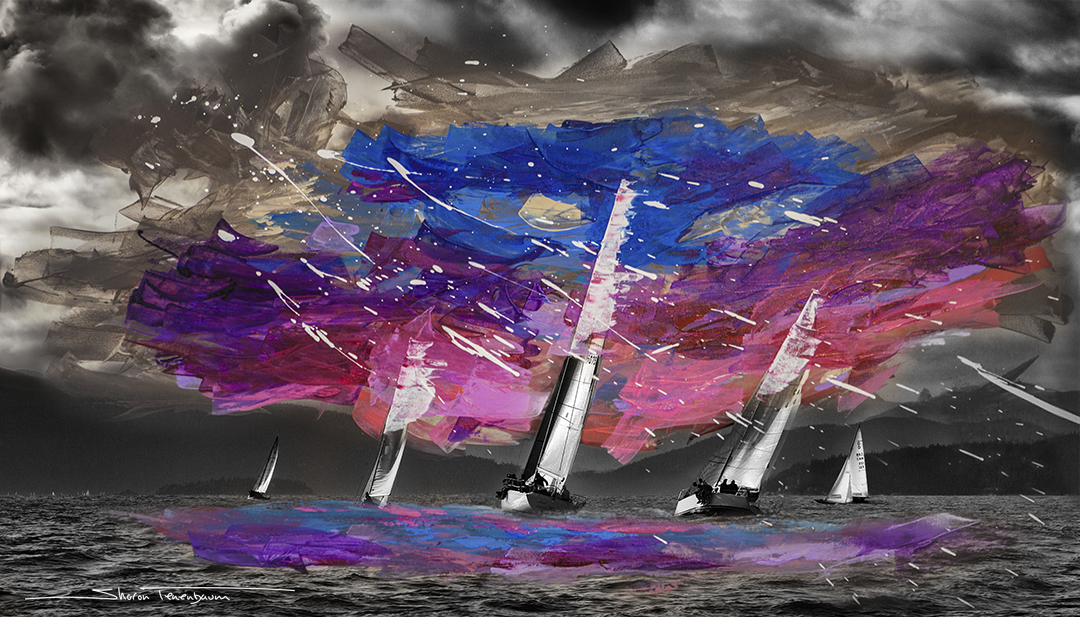 Five Sails Painted