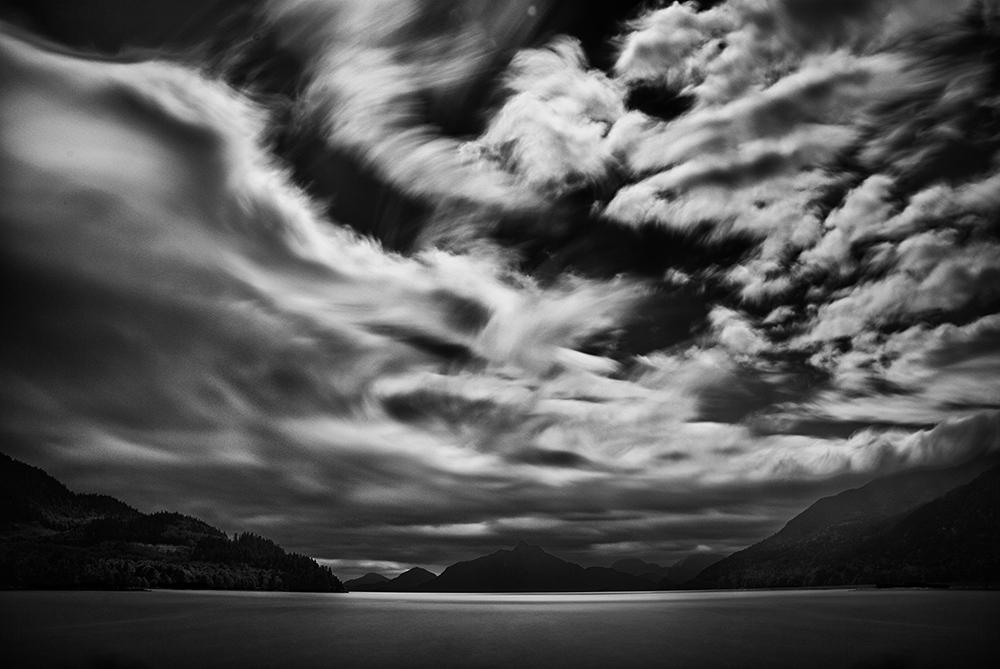 Howe Sound Sky Original Black and White Photograph