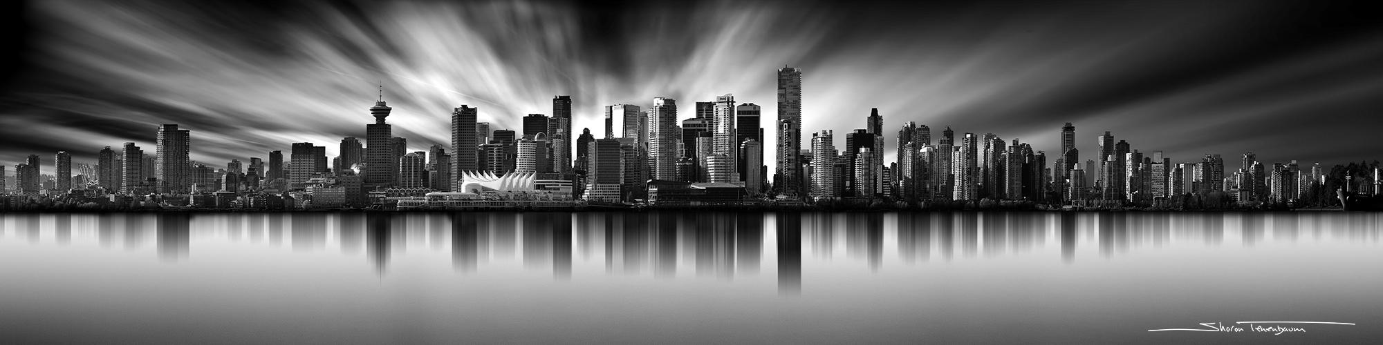 Vancouver Skyline Original Black and White Photograph