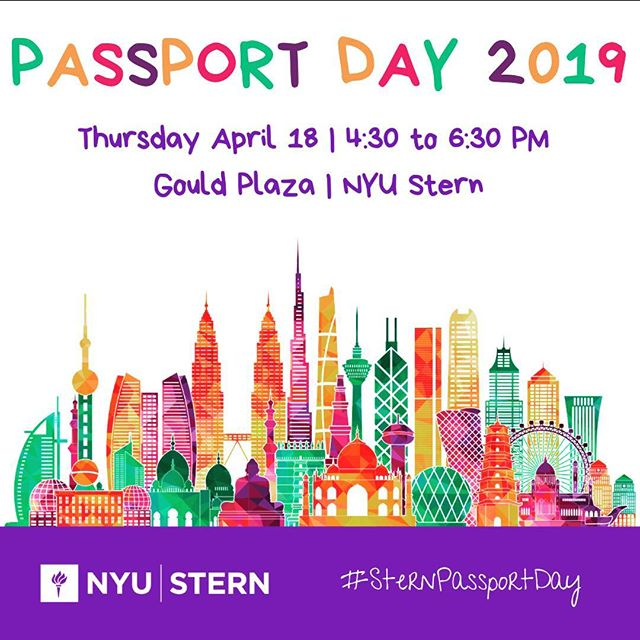 Passport Day is around the corner! Get you tickets via link in bio. #SternPassportDay