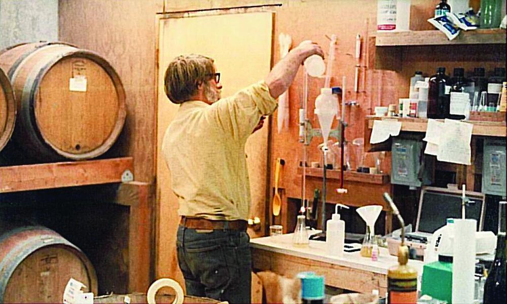 Vintage Photo of David Adelsheim Winemaking