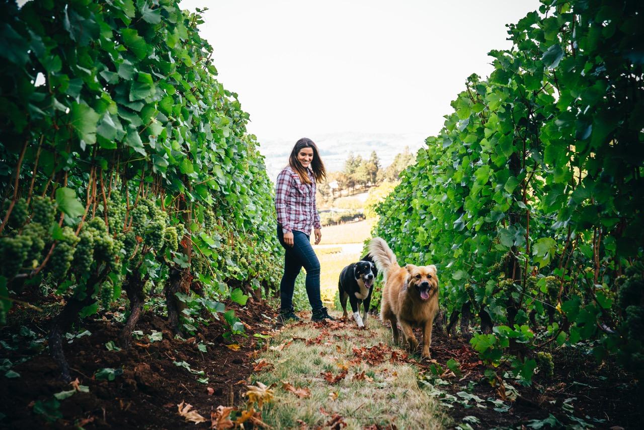 Kelli Gregory in Vineyard