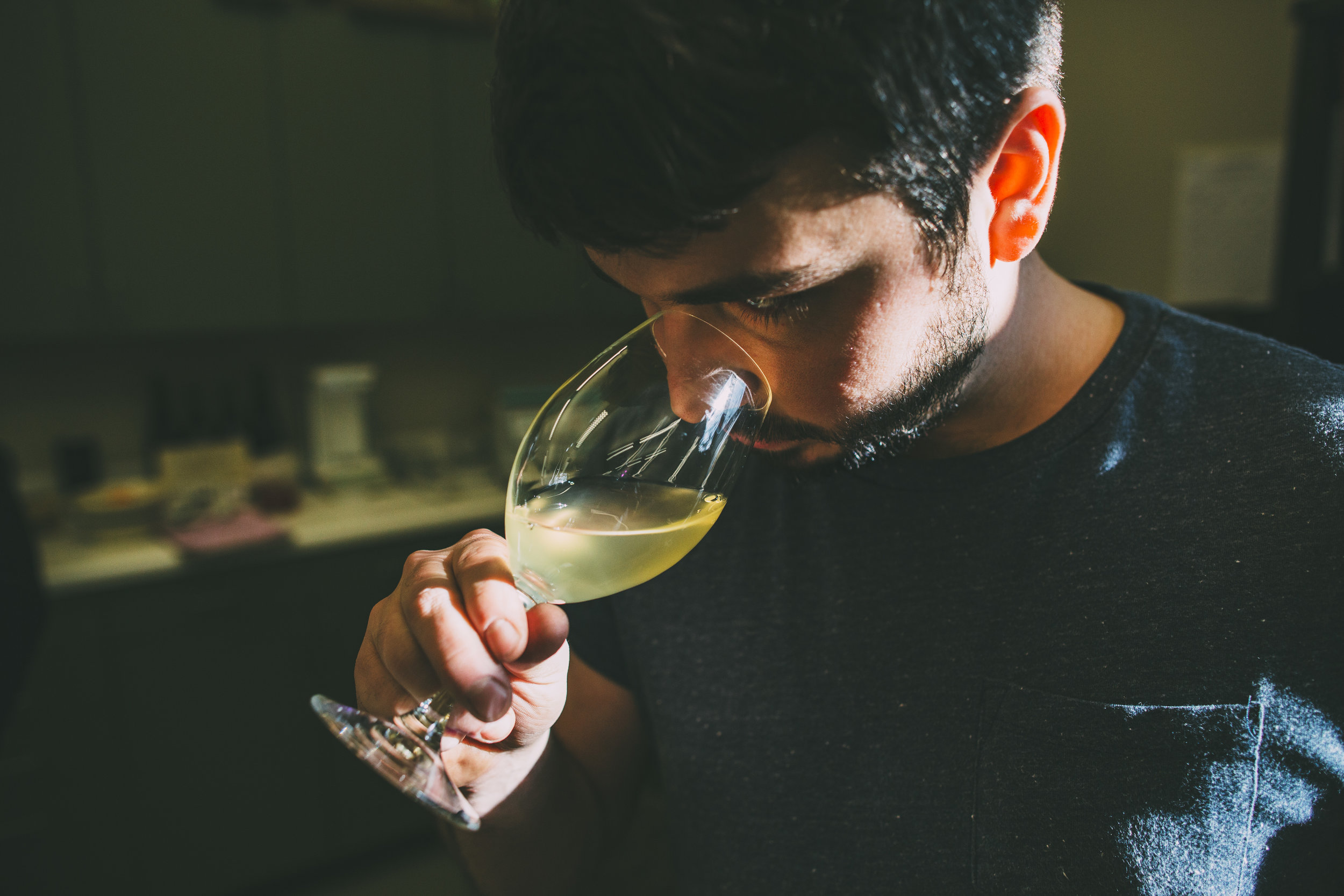 Man Tasting Wine at Adelsheim