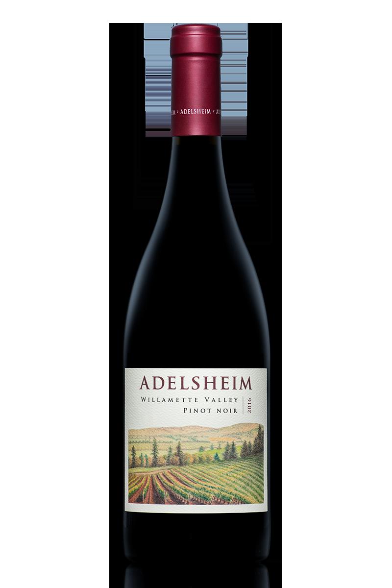 2016 willamette valley pinot noir - bottle shotlabel front / label backdescription sheetshelf talkersdownload all
