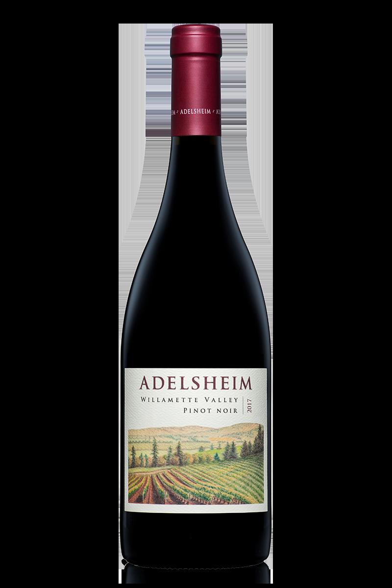 2017 willamette valley pinot noir - bottle shotlabel front / label backdescription sheetshelf talkersdownload all