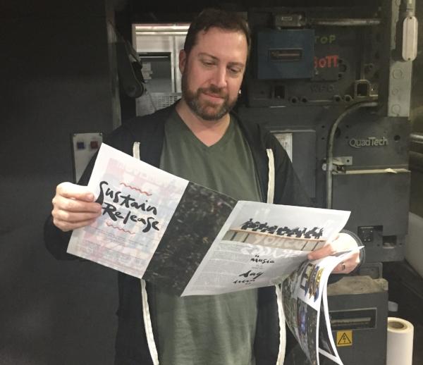 4 a.m. press check for Coachella CAMP Magazine, 2017.