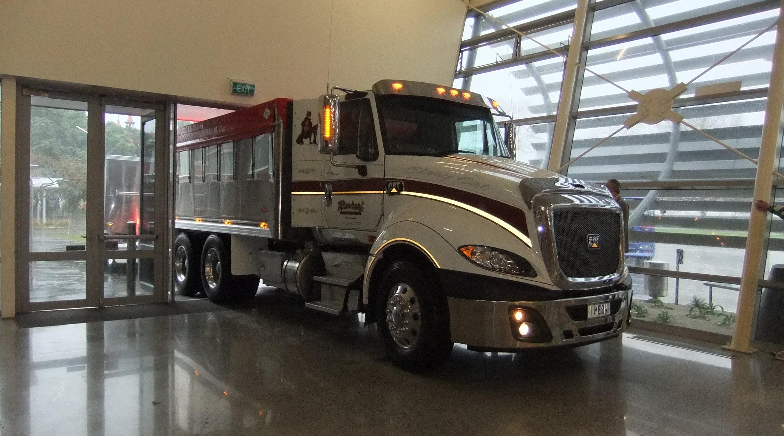 16 large trucks inside too.JPG