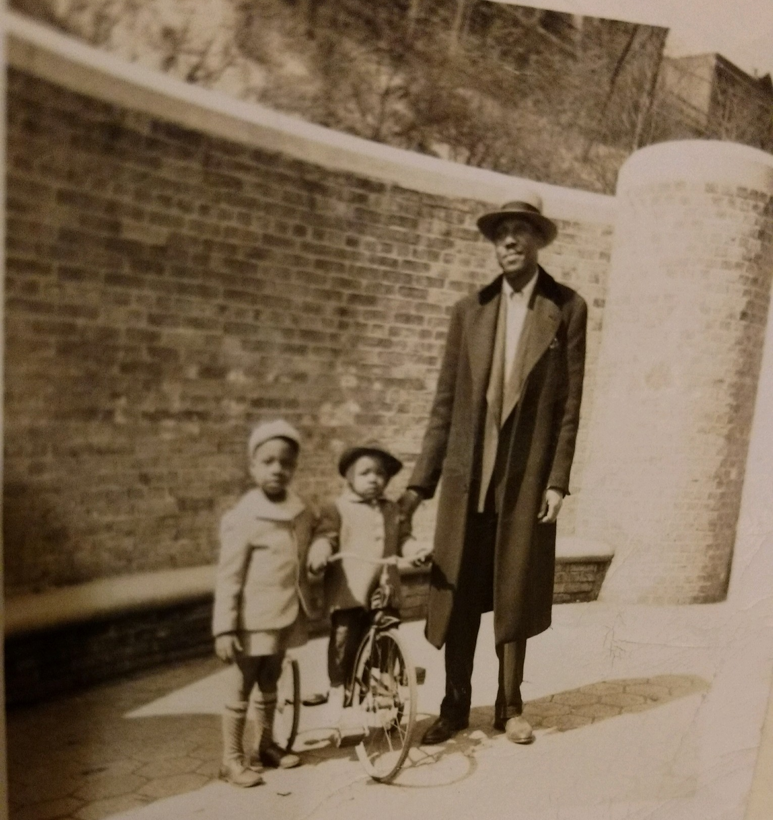 My grandfather (right) with my uncle Fitz (left) and my mother, Sydnia (middle).