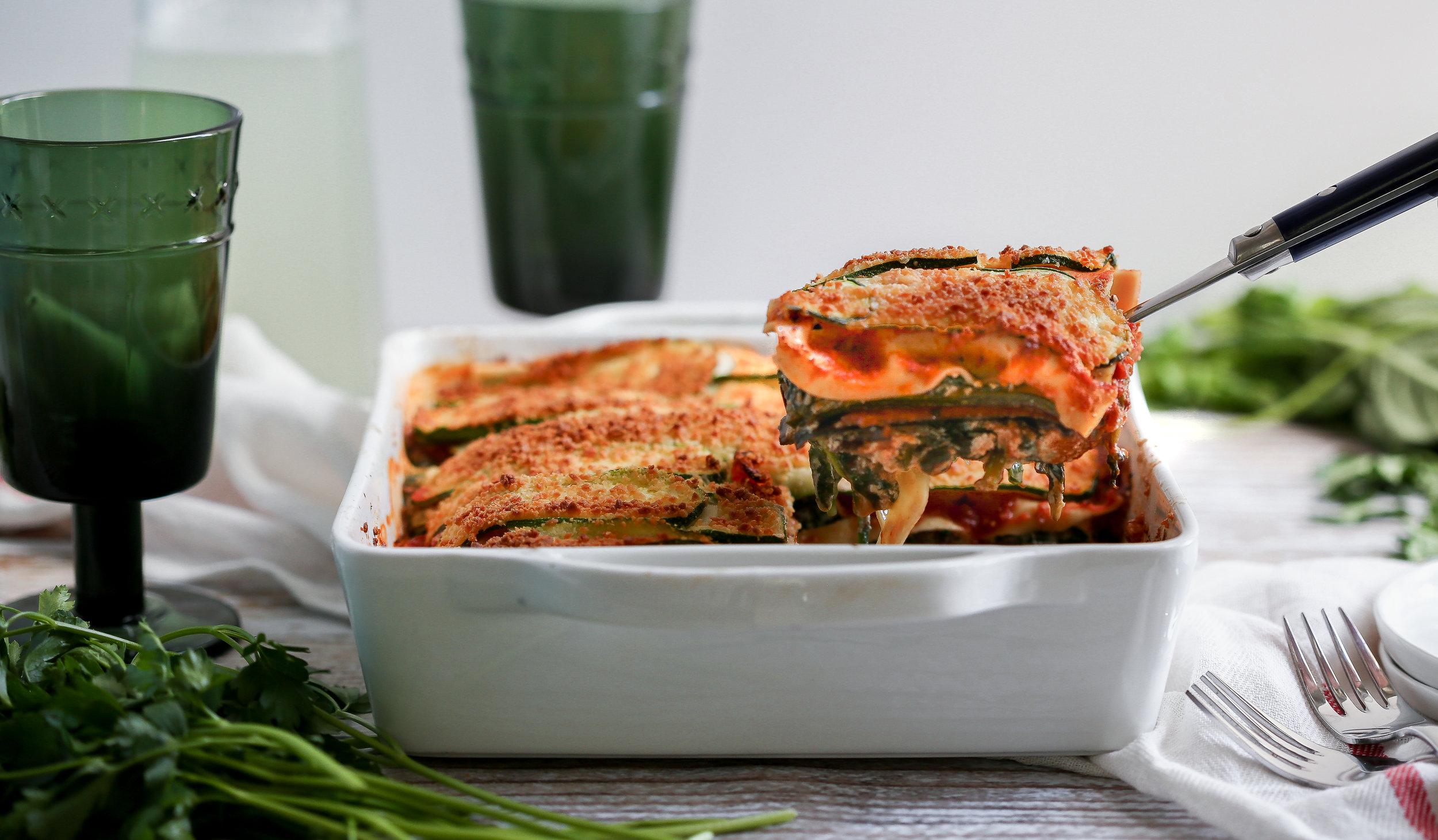 Mediterranean Style Lasagna