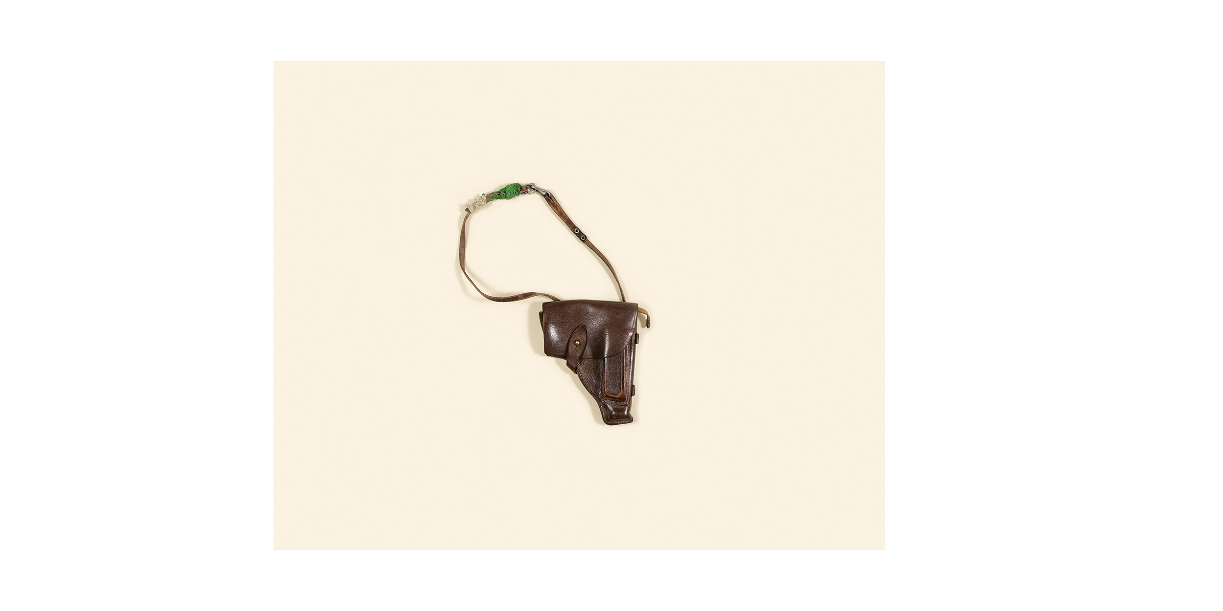 A Soviet-era pistol holster found on a Taliban position during Operation Medusa in Kandahar province in 2006. At the time, it was the most significant land battle ever undertaken by NATO.