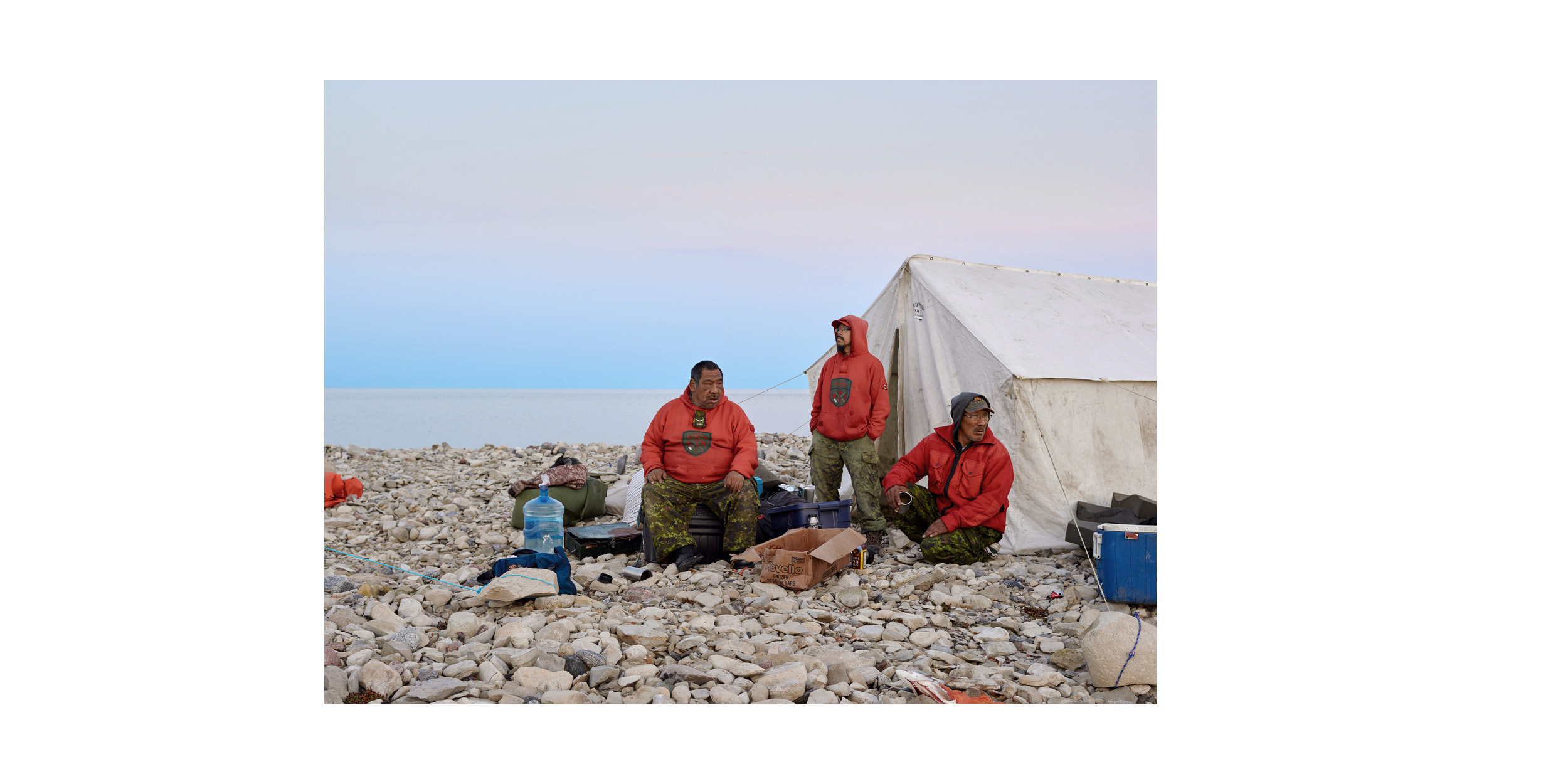 Rangers John and Steven Ukuqtunnuaq and Simon Tucktoo, King William Island, from the series 'Arctic Front'