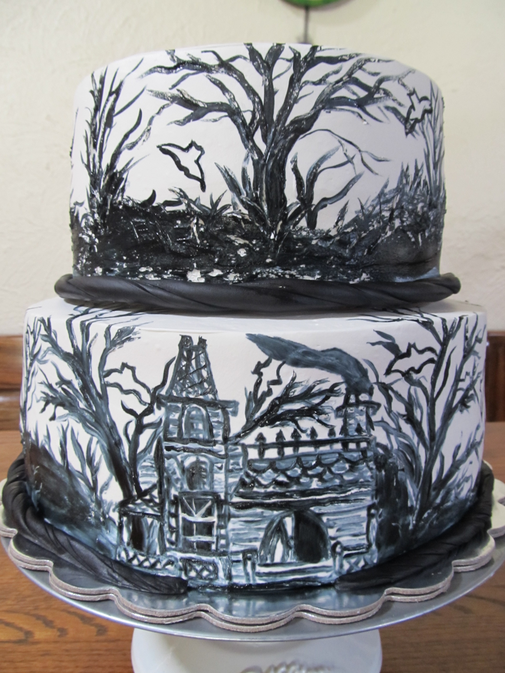 Hand-Painted and Watercolor cakes - As a painter, I also specialize in hand-painted and watercolor cakes! Get the look you want to encapsulate your party's theme in cake form through a painted cake, or accent your design with watercolor effects. See the painted cakes subsection under the birthday cakes tab for more examples!
