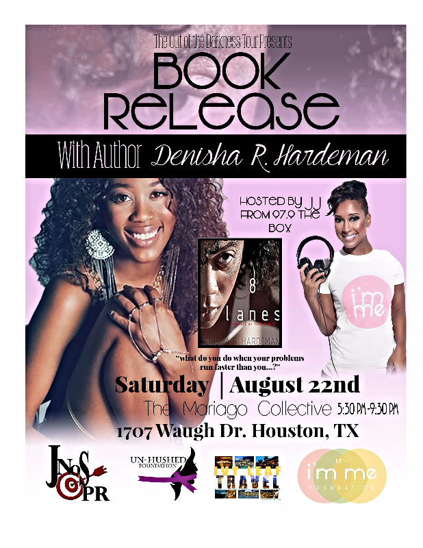 Attend Denisha's Book Release party Aug 22, 2015 hosted by JJ on the Mic