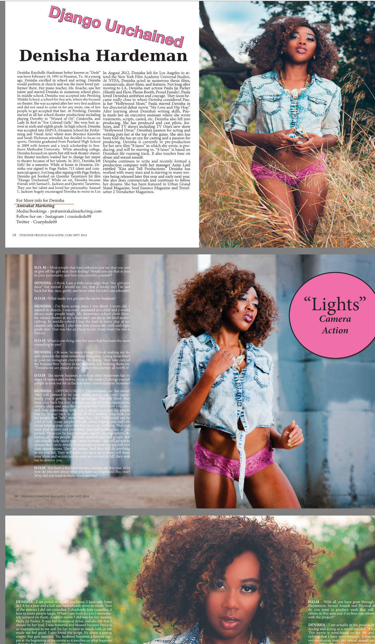 Feature in D.O.M Mag -
