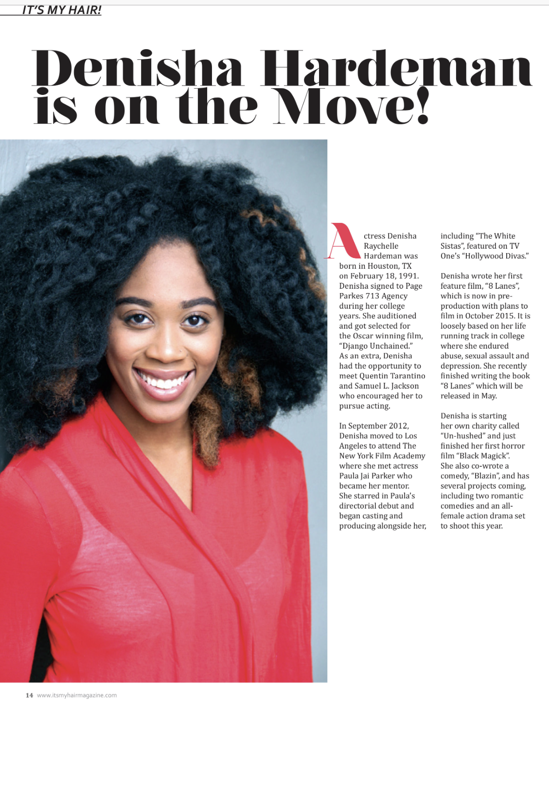 Feature in It's My Hair Mag -