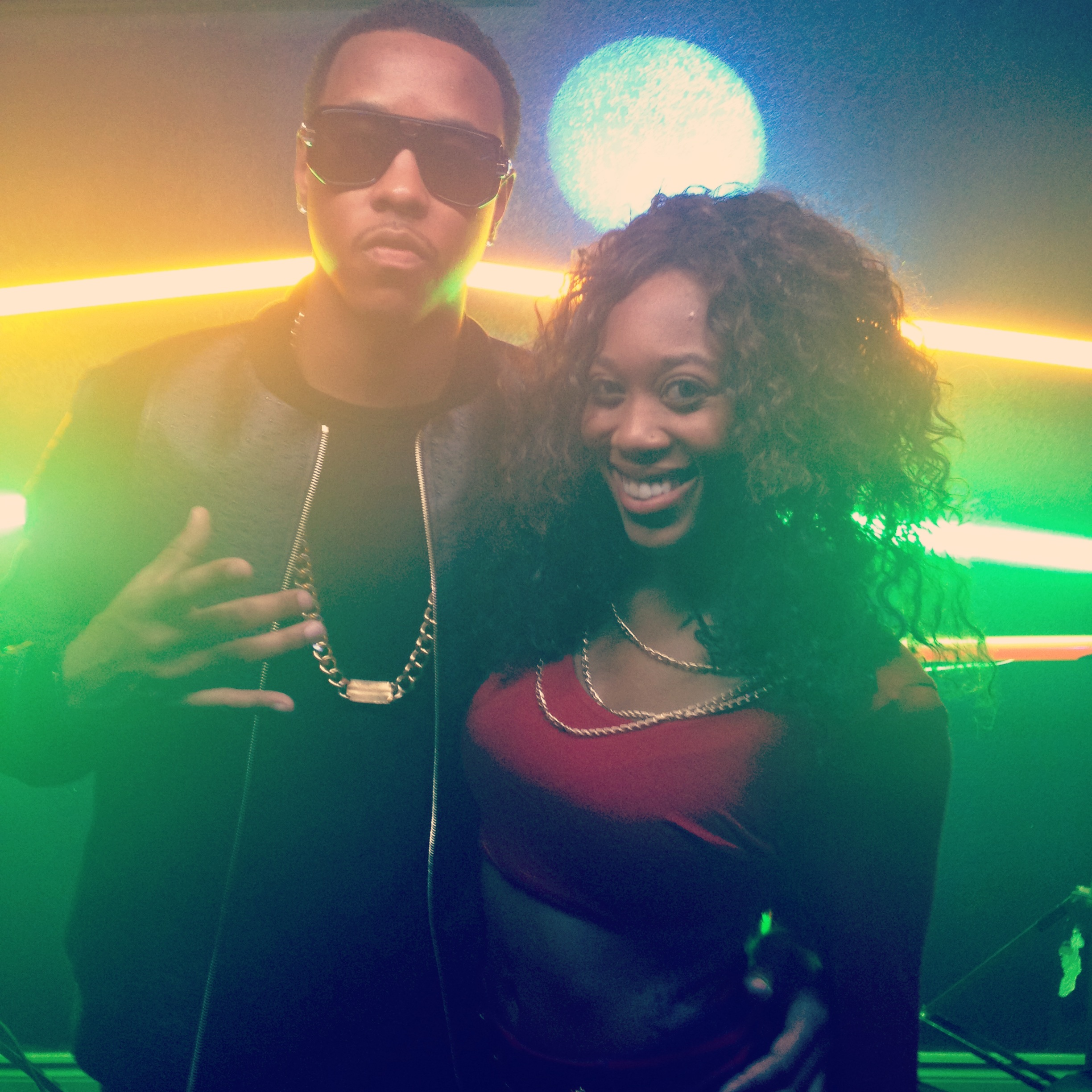 With Jeremih at Video Shoot