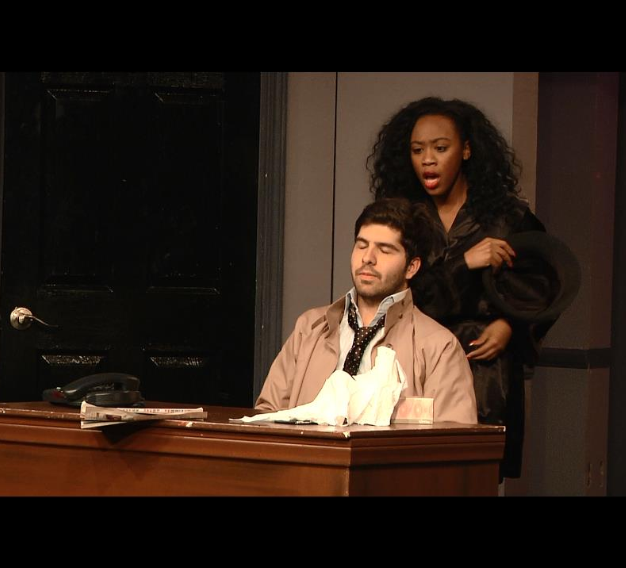 On Stage in the play