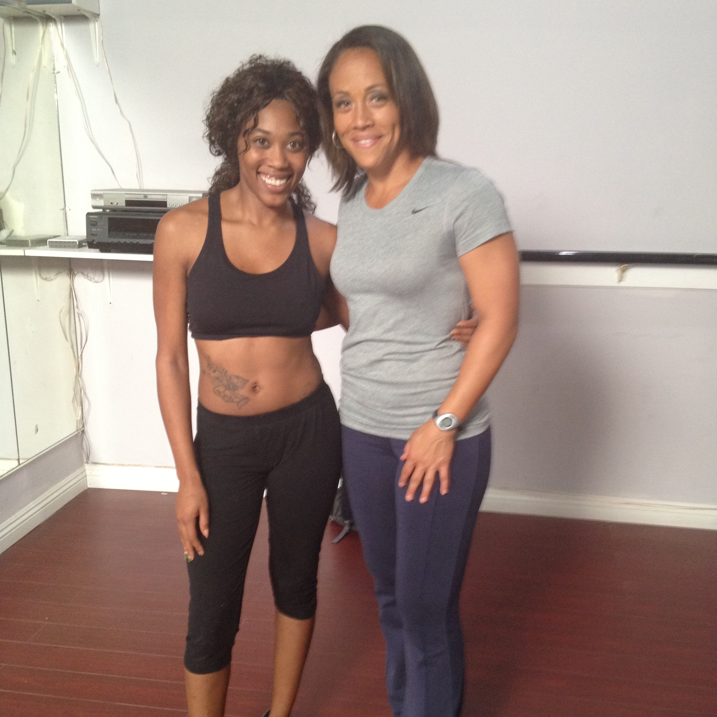 BTS with Erica Ringor (Love and Basketball) on set of webseries
