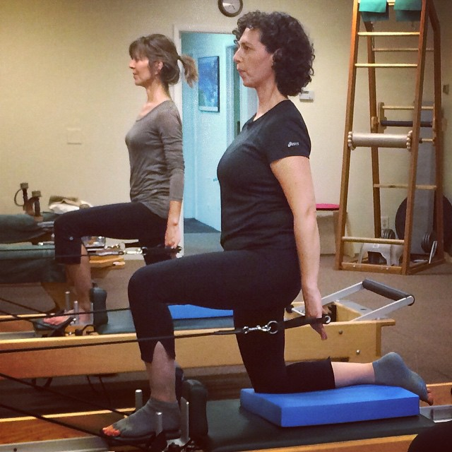 Having a Pilates partner is not only fun, but also helps to keep your practice on track!