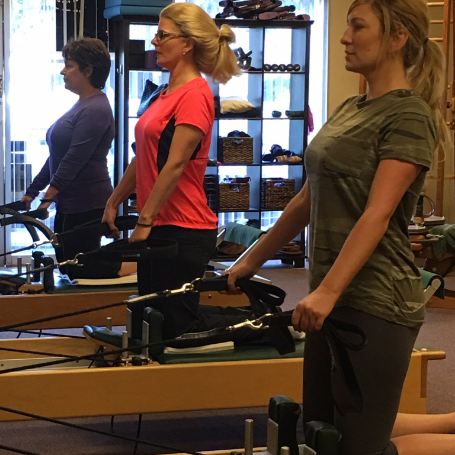 Our semi private reformer classes in Campbell are a great way to enhance your Pilates workout! Strengthen, tone, improve posture, balance, flexibility and more. Classes are semi-private and limited in size so that you get a more personalized Pilates experience.