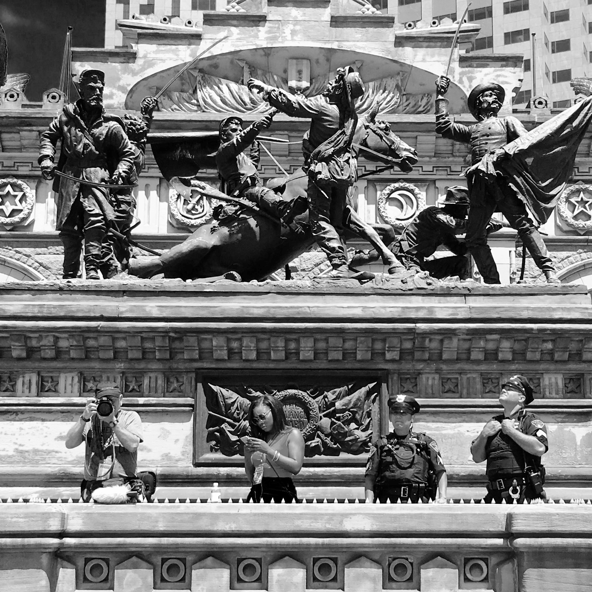 """ Cuyahoga  - Cleveland, 2016"" Photo © by Tony Puryear, 2016 all rights reserved. Photo of  Cuyahoga County Soldiers' and Sailors' Monument  in downtown Cleveland at Republican National Convention."
