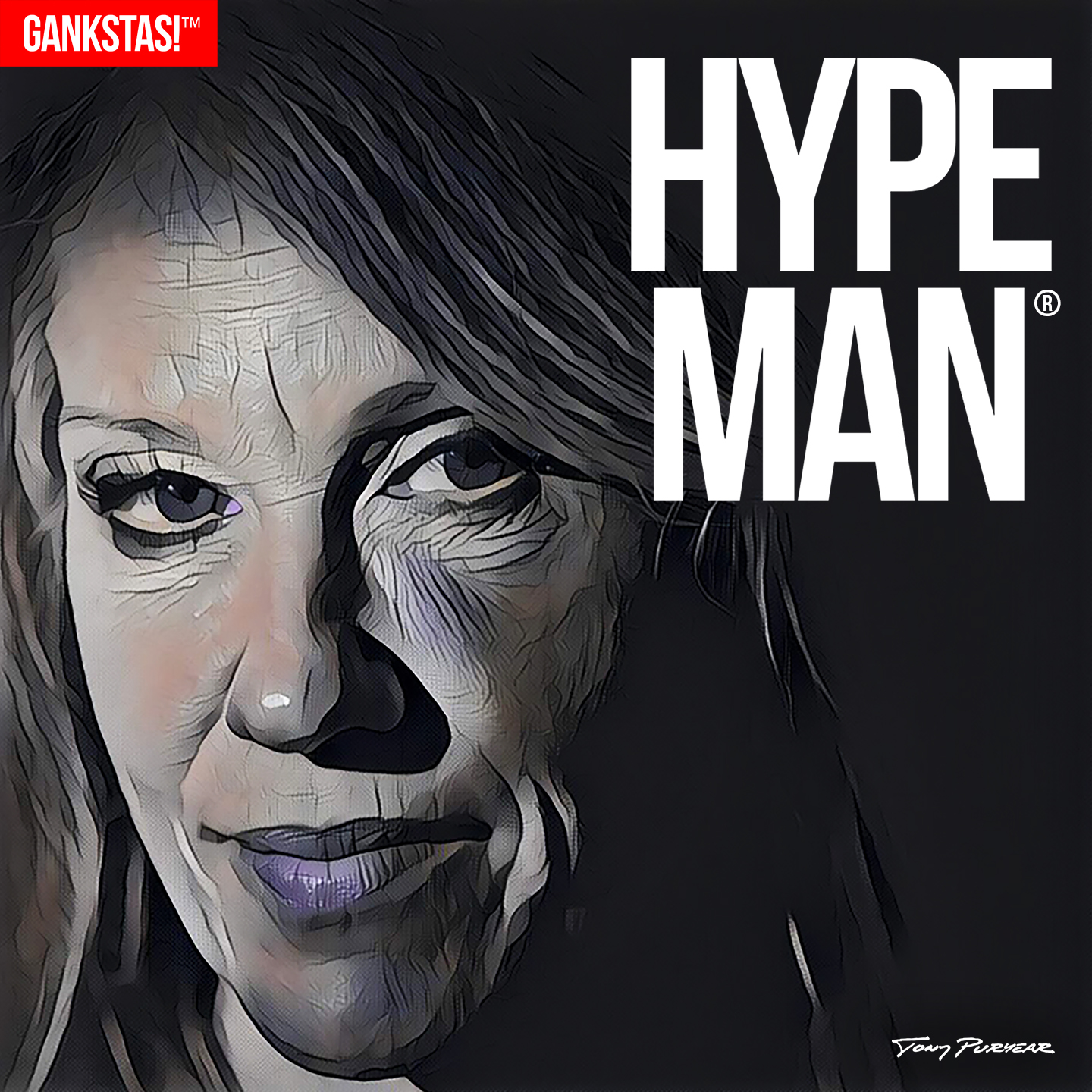 """"""" HYPE MAN """" - 2017, digital print on acid-free paper, 14.5""""x14.5"""" Every act needs a hye man, someone to whip up the crowd, and  Kellyanne Conway  is the Flavor Flav of the Trump Crime Family®."""