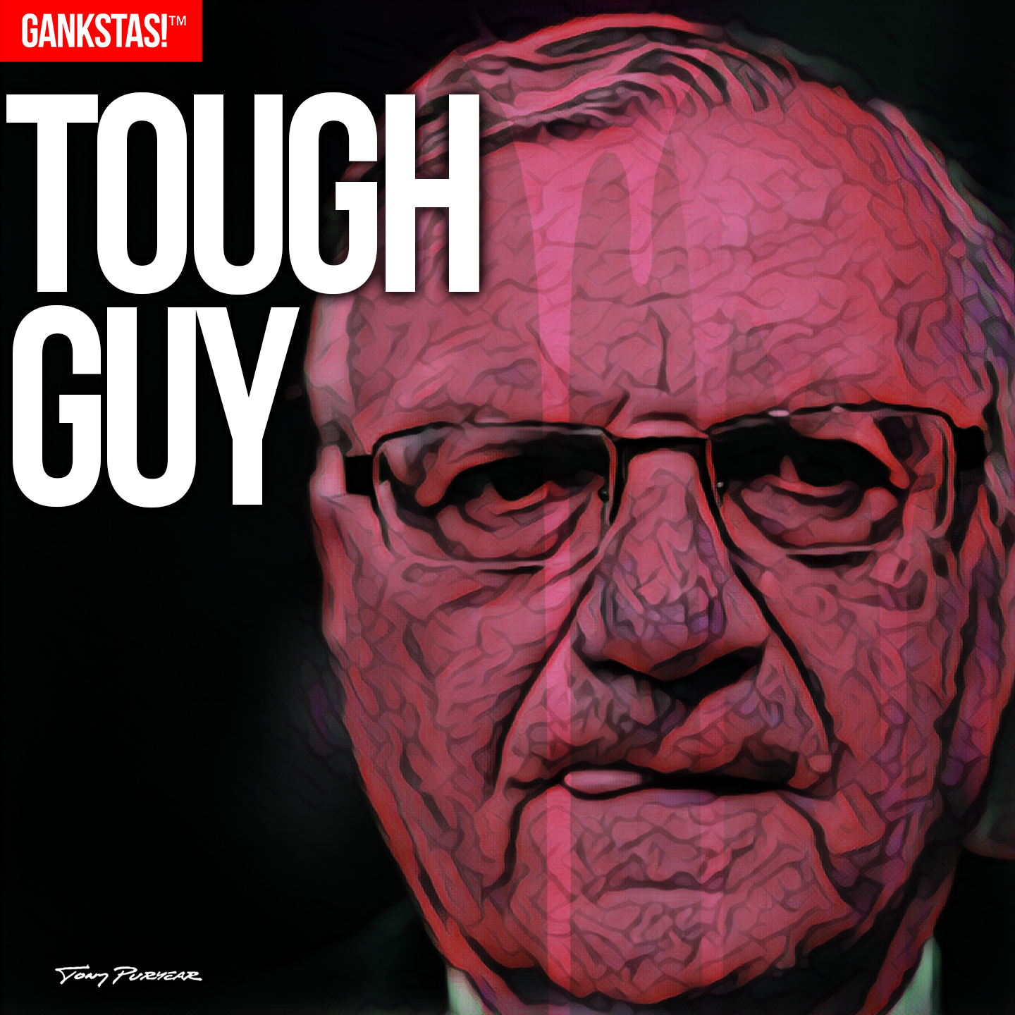 """"""" TOUGH GUY """" - 2017, digital print on acid-free paper, 14.5""""x14.5"""" Portrait of disgraced Marcicopa County, AZ, Sheriff and convicted felon  Joe Arpaio , recipient of a presidential pardon from Donald Trump."""