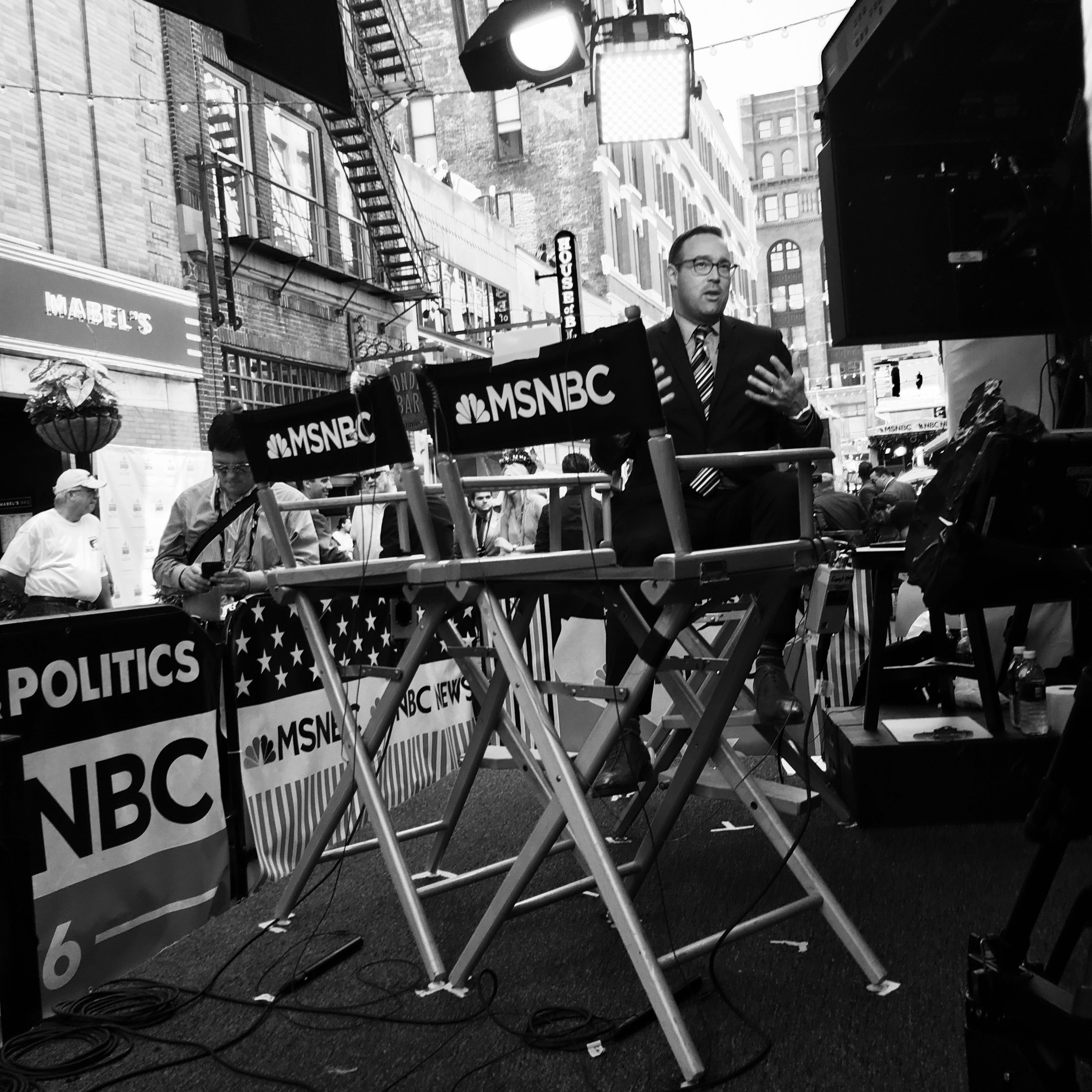 """ Cillizza, Say It Loud And There's Music Playing  - Cleveland, 2016"" Photo © by Tony Puryear, 2016 all rights reserved. Photo of MSNBC contributor Chris Cillizza filing a story."