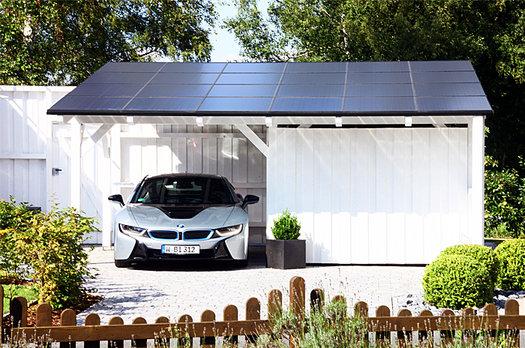 Carport solar panels