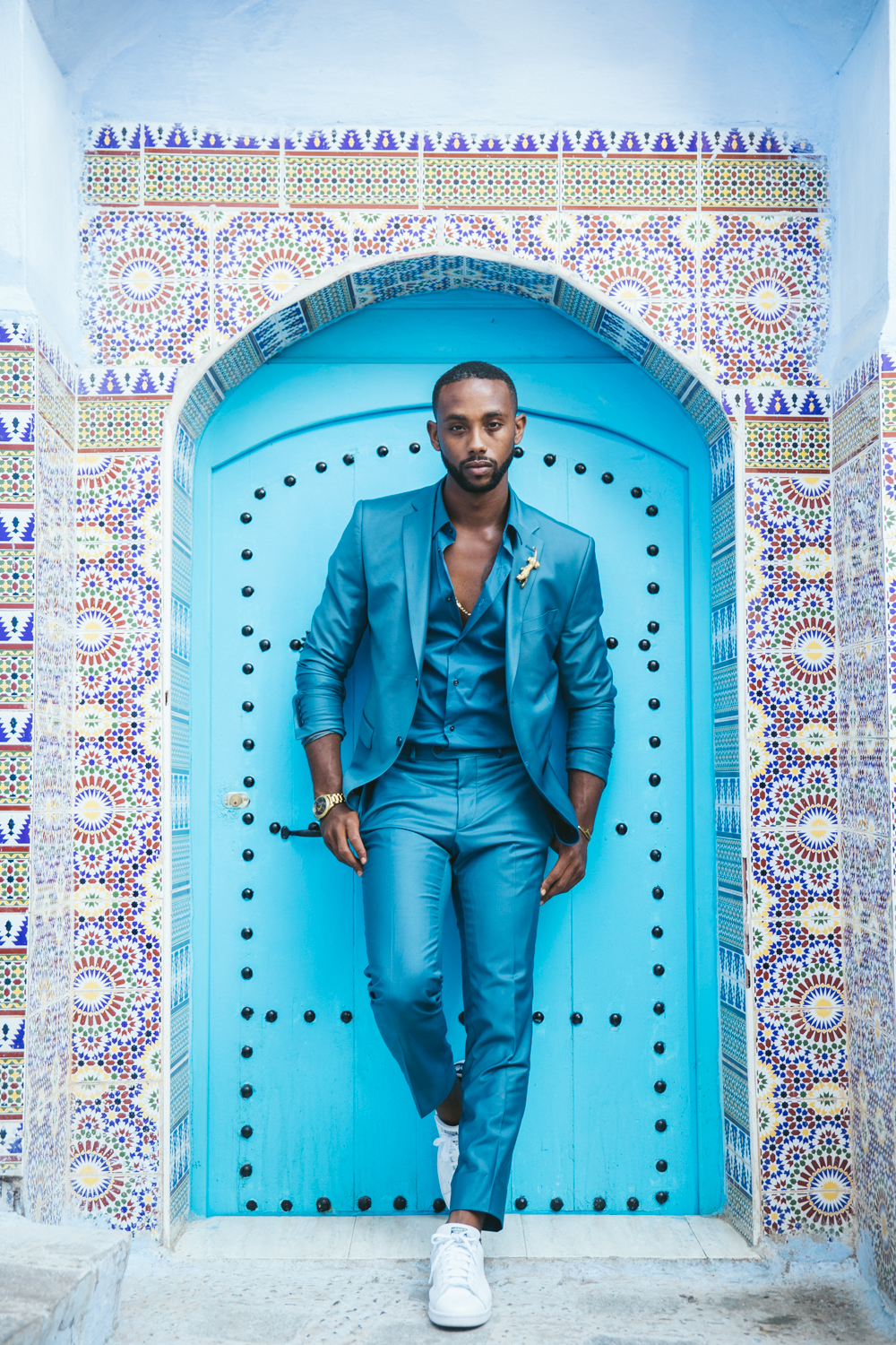 Fashion Killer  @bjgray  hands down the best look of the shoot and this door just made the entire look pop!