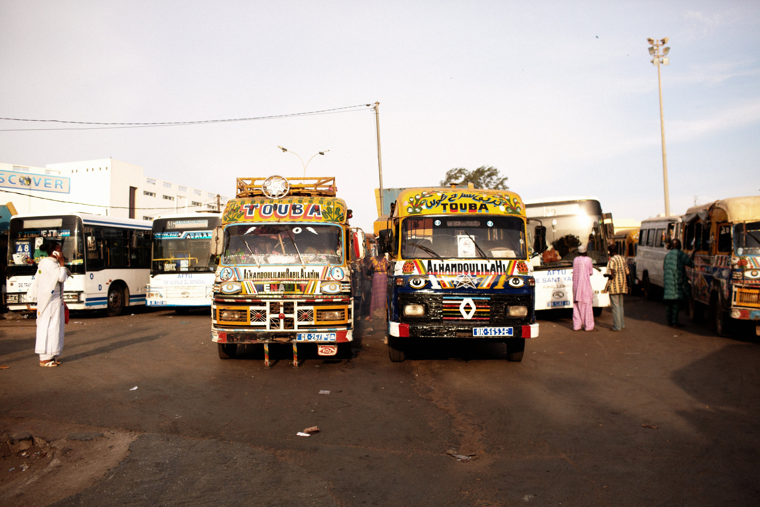 I was so obsessed with these colorful busses! They were all over the place.