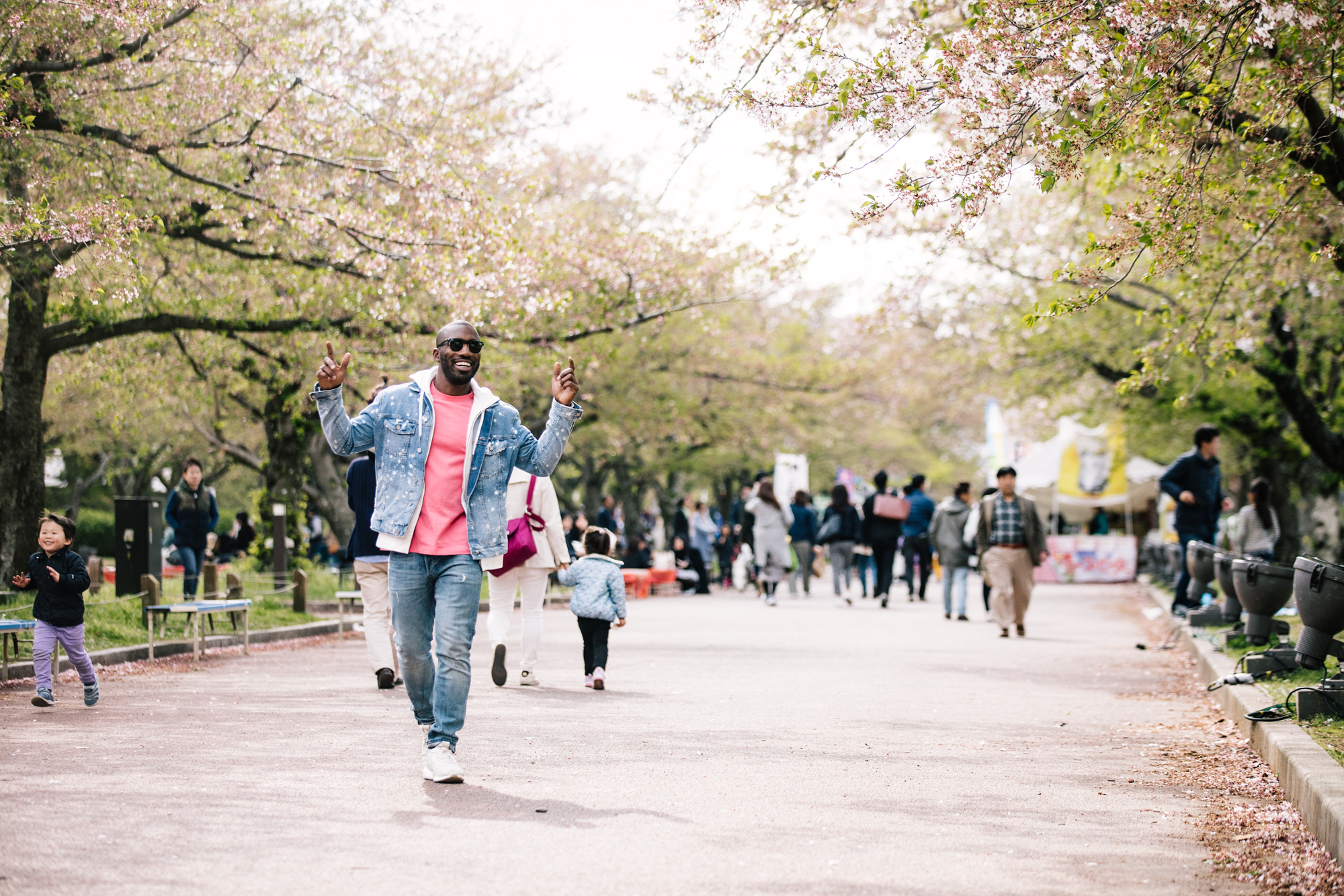 On the hunt for Cherry Blossoms in Expo 70 Commemorative Park