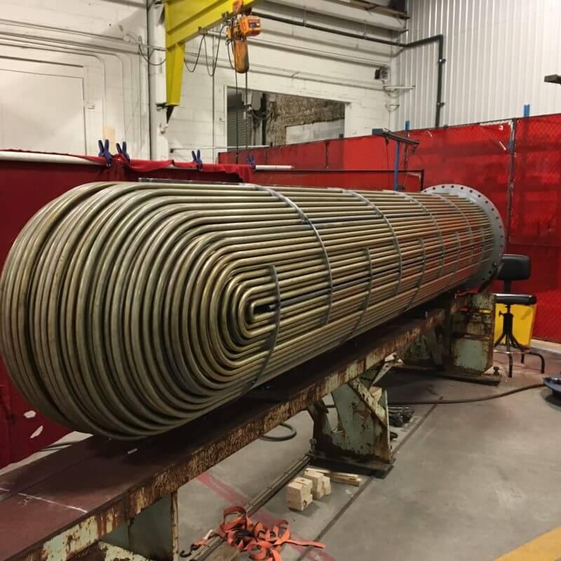 A massive U-Tube bundle made at PK in East Stroudsburg, PA