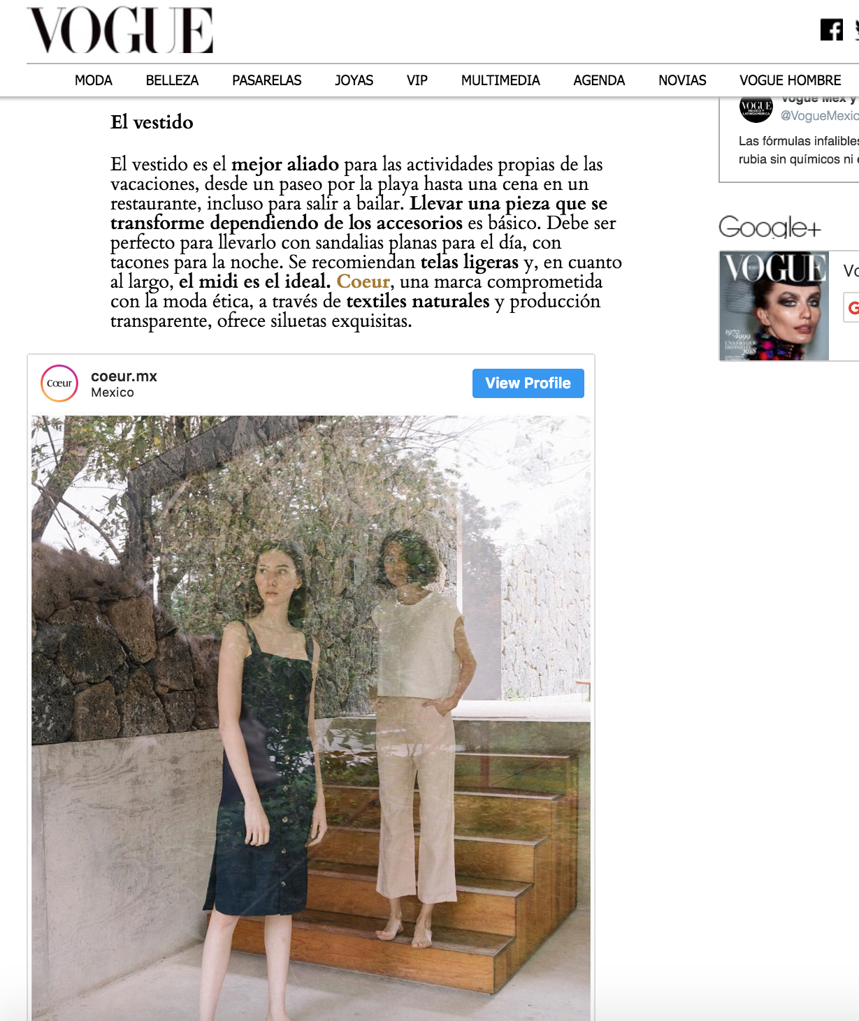 Vogue México y Latinoamérica, Agosto 2018.