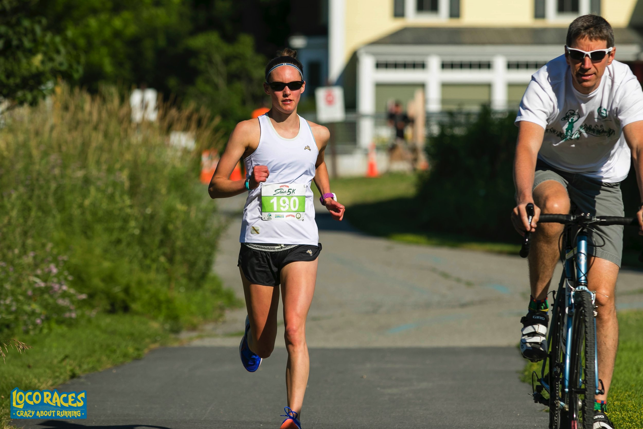 Photo from my 5k race 2 weeks ago. So thankful for the guy on the bike - you are the best!!