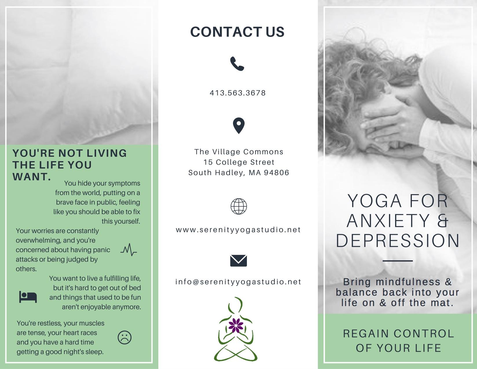 Yoga Studio Program Brochure